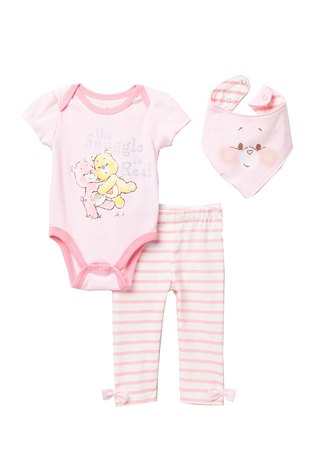 Image of HAPPY THREADS Care Bares 3-Piece Bodysuit Set