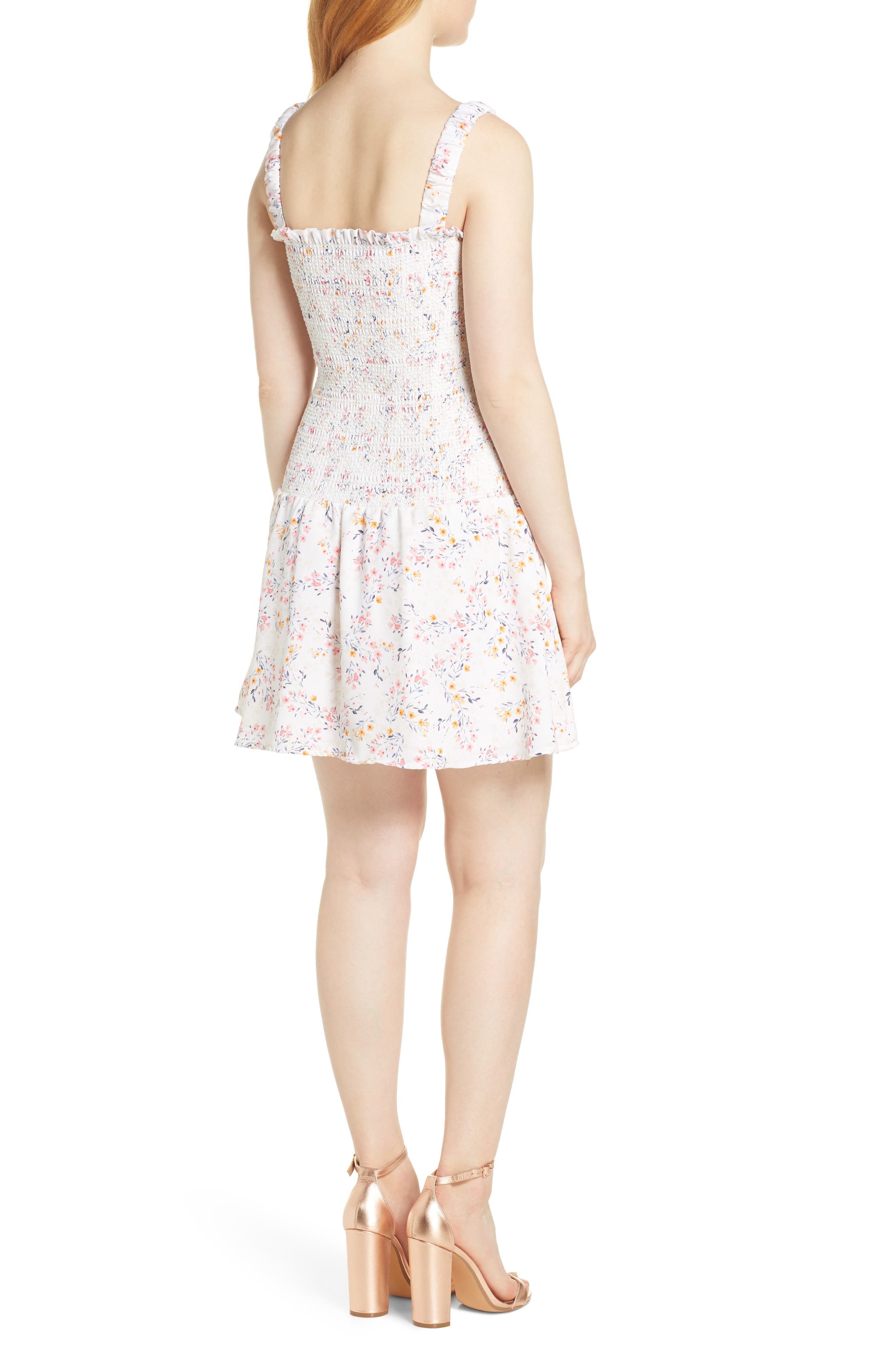 ,                             x Dress Up Buttercup Eastside Luv Floral Minidress,                             Alternate thumbnail 2, color,                             FIELD FLOWERS