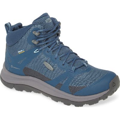 Keen Terradora Ii Waterproof Winter Hiking Boot- Blue