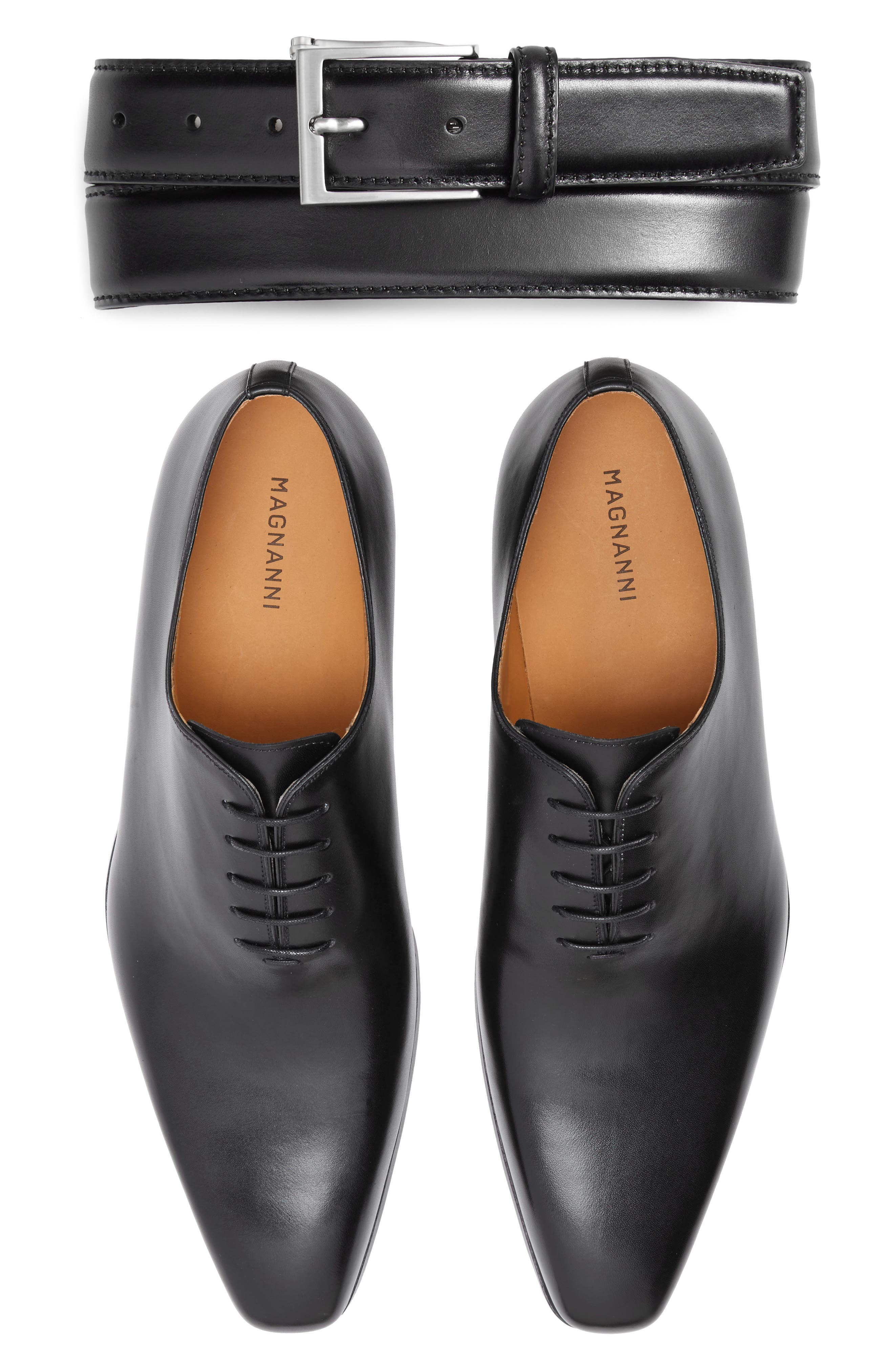 ,                             'Cruz' Plain Toe Oxford,                             Alternate thumbnail 2, color,                             BLACK