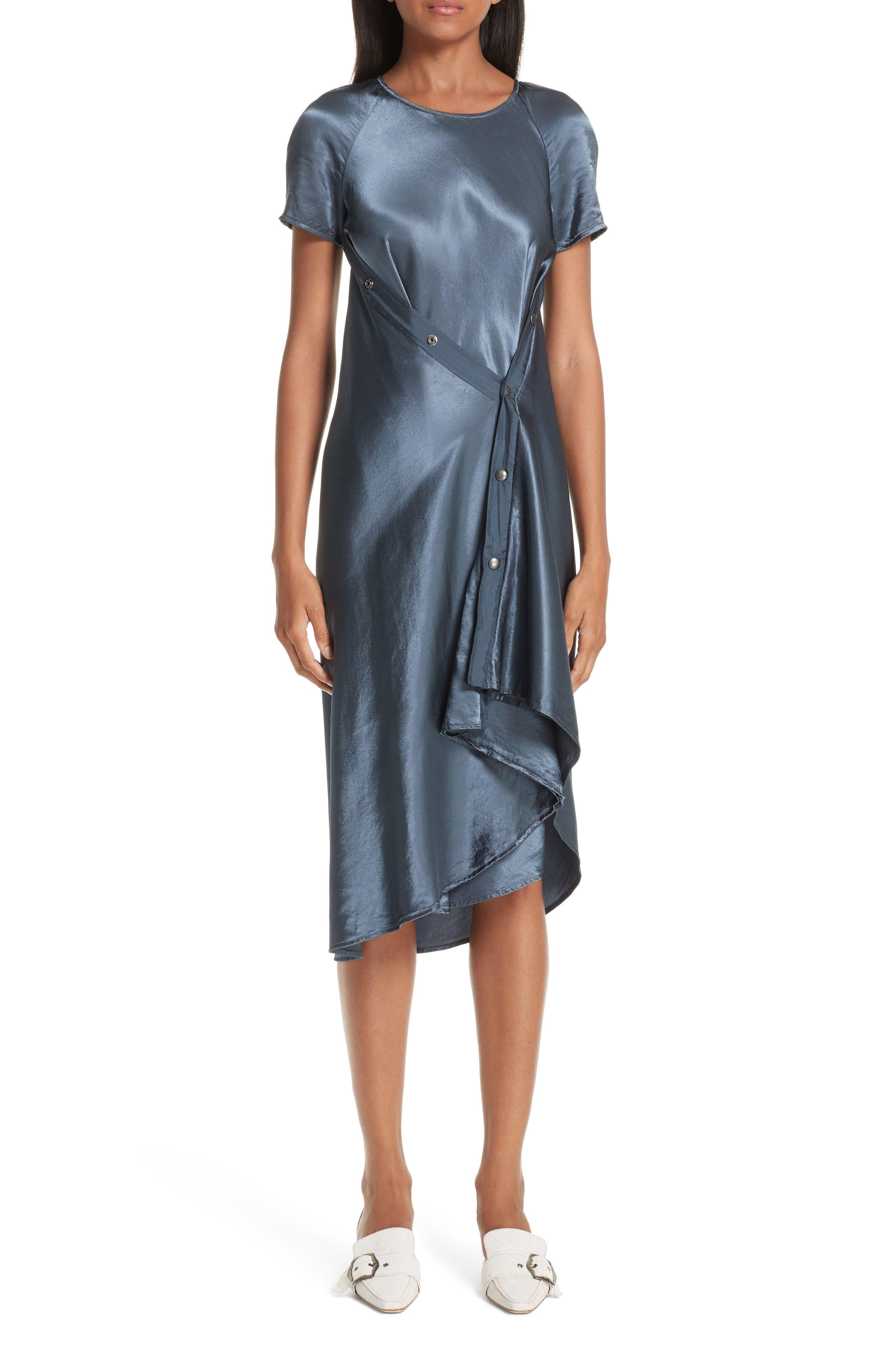 Sies Marjan Sophie Snap Detail Satin Dress