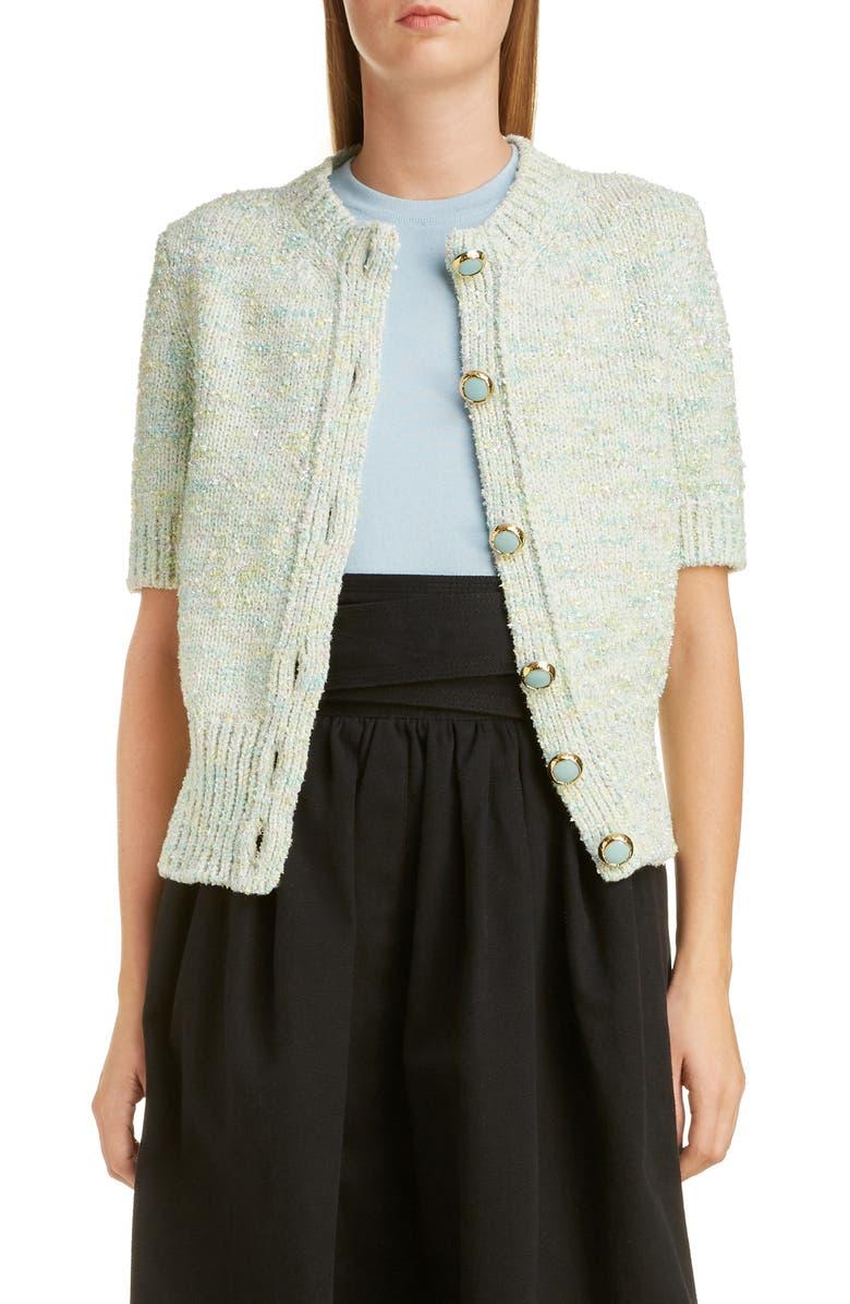 MARC JACOBS Tweed Cardigan, Main, color, 250