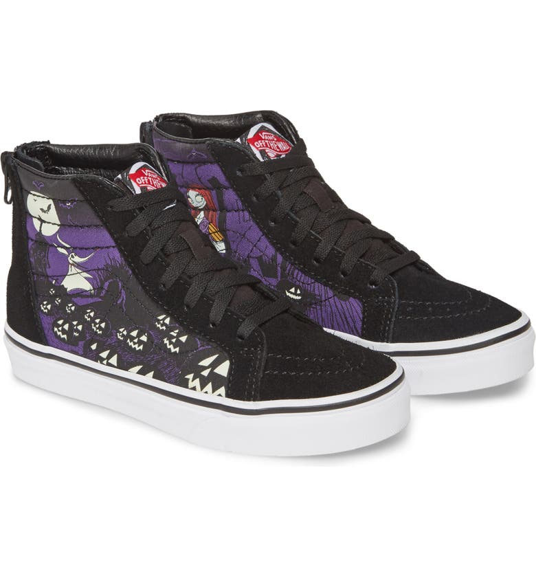 VANS The Nightmare Before Christmas Sk8-Hi Zip Sneaker, Main, color, JACKS LAMENT/ NIGHTMARE