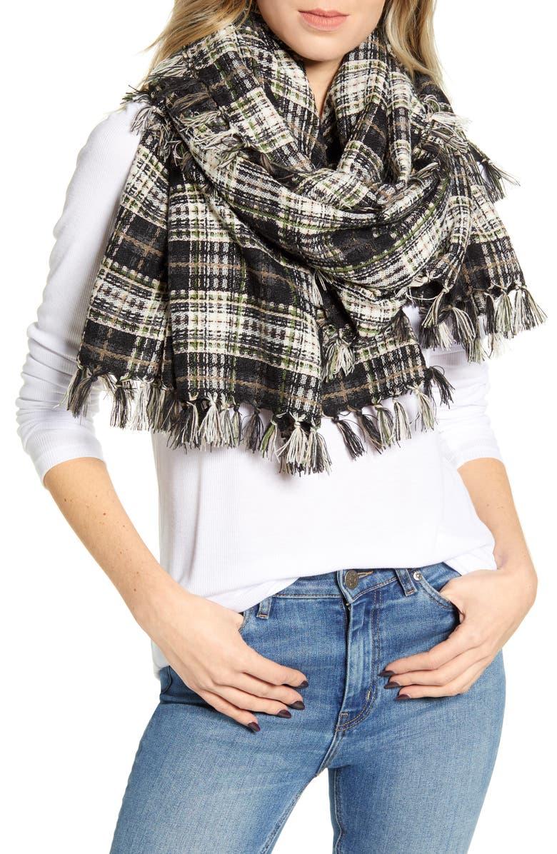 TREASURE & BOND Vintage Blanket Wrap, Main, color, 001
