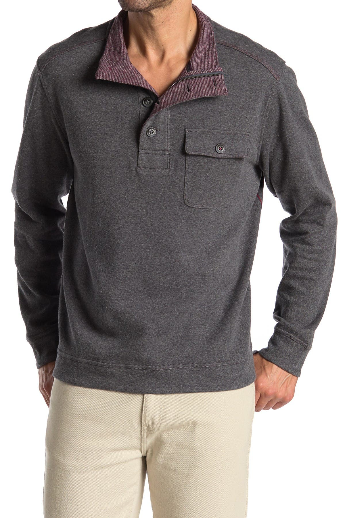 Image of Tommy Bahama Alpine View Quarter Zip & Button Pullover