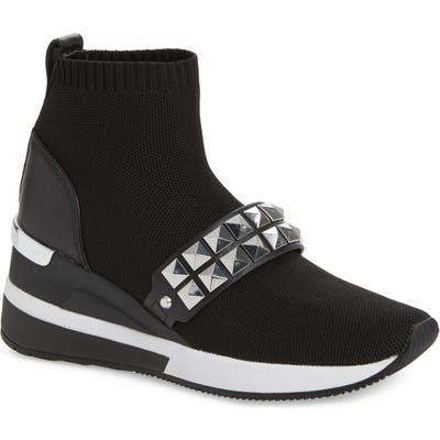 Michael Michael Kors Skyler Embellished Wedge Bootie Sneaker- Black