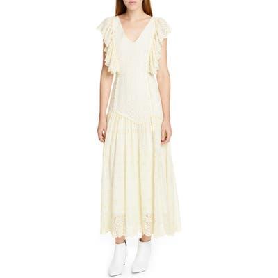 Loveshackfancy Cressida Eyelet Maxi Dress, Ivory