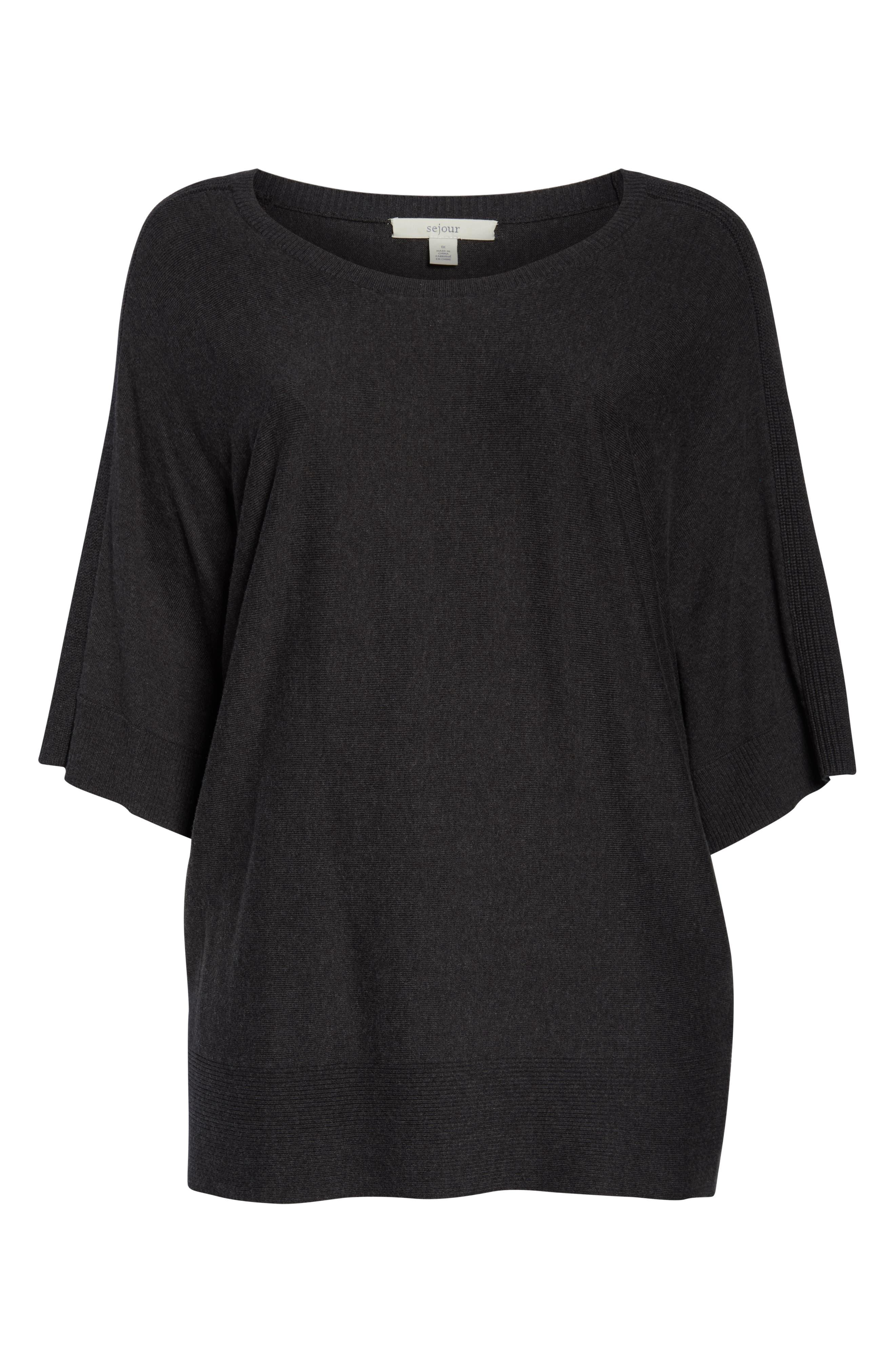 ,                             Cotton Blend Dolman Sleeve Sweater,                             Alternate thumbnail 6, color,                             021