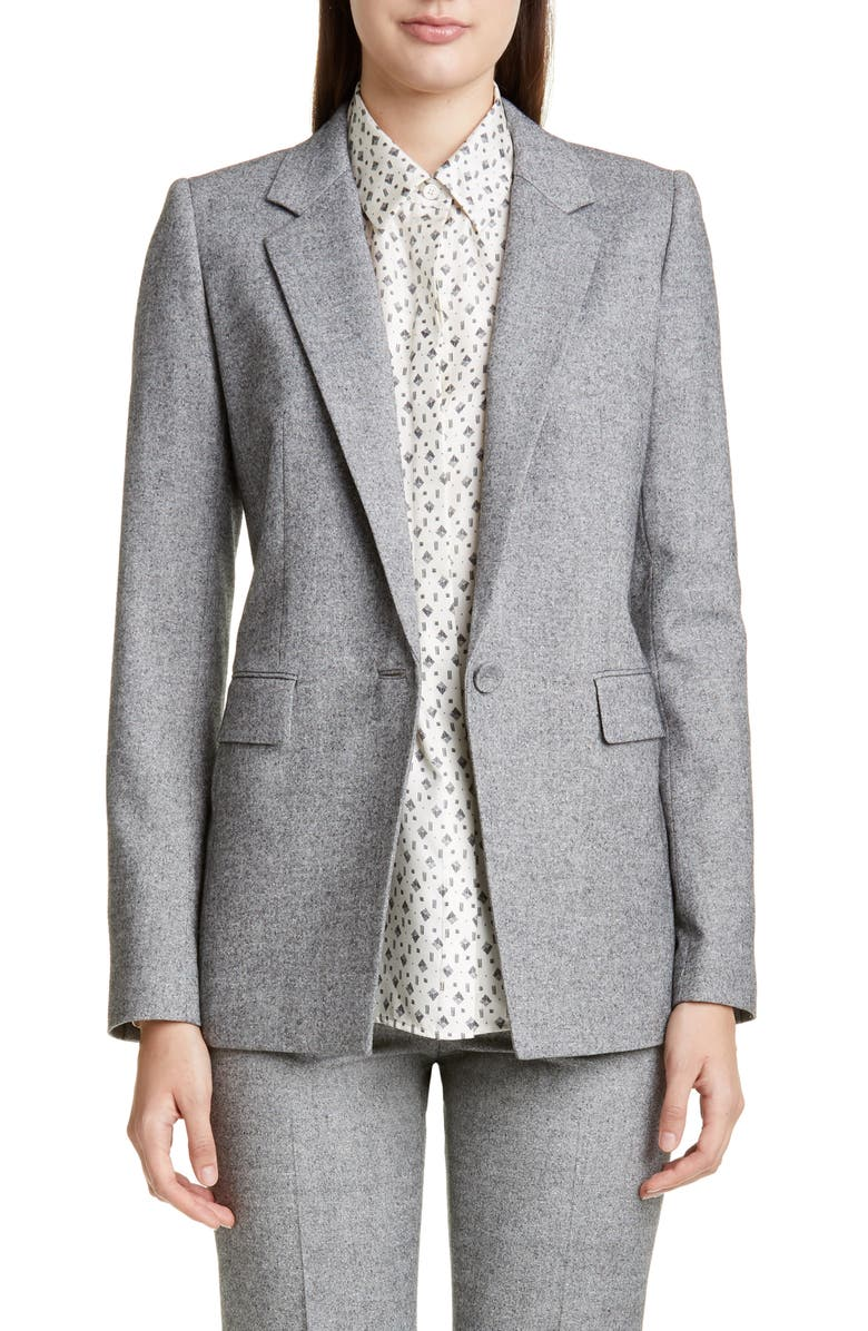 LAFAYETTE 148 NEW YORK Rhoda Silk & Wool Blazer, Main, color, FLINT MULTI