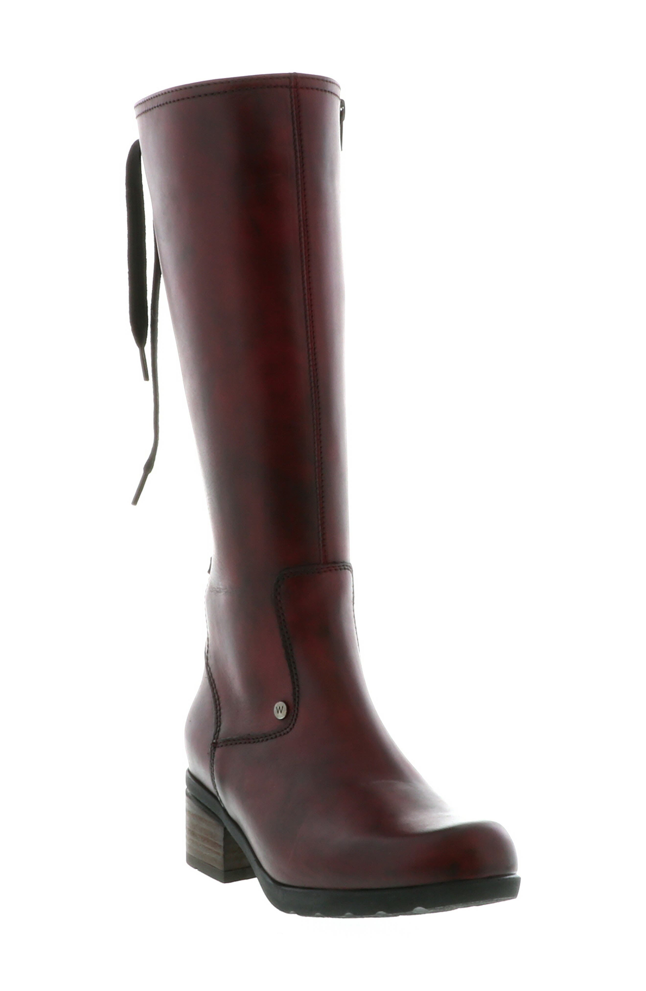 Wolky Hayen Knee High Boot - Burgundy