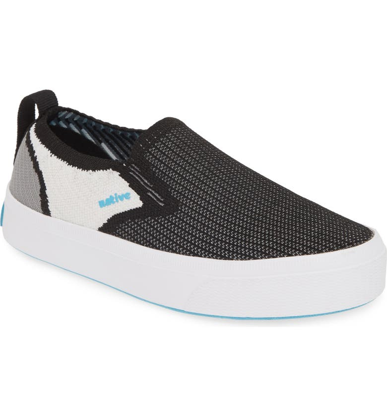NATIVE SHOES Native Miles 2.0 LiteKnit Slip-On Sneaker, Main, color, JIFFY BLACK/ WHITE/ BLACK