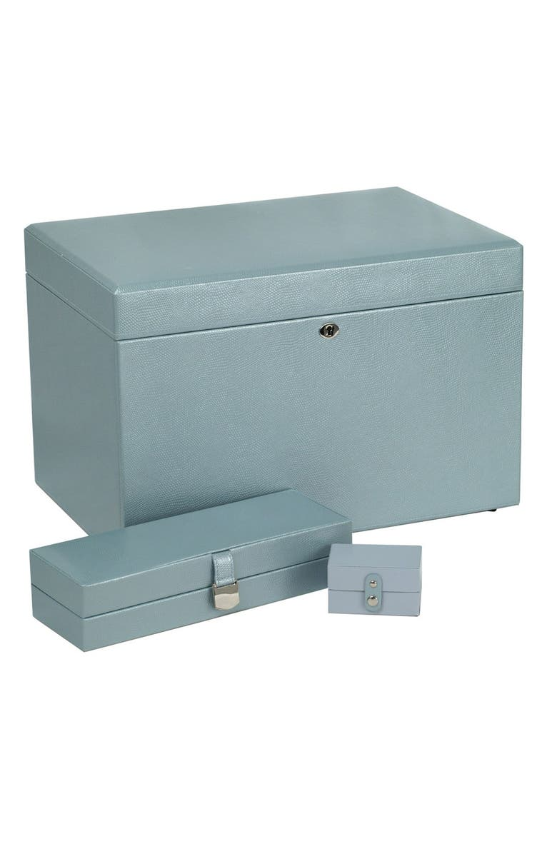 WOLF London Large Jewelry Box, Main, color, ICE BLUE