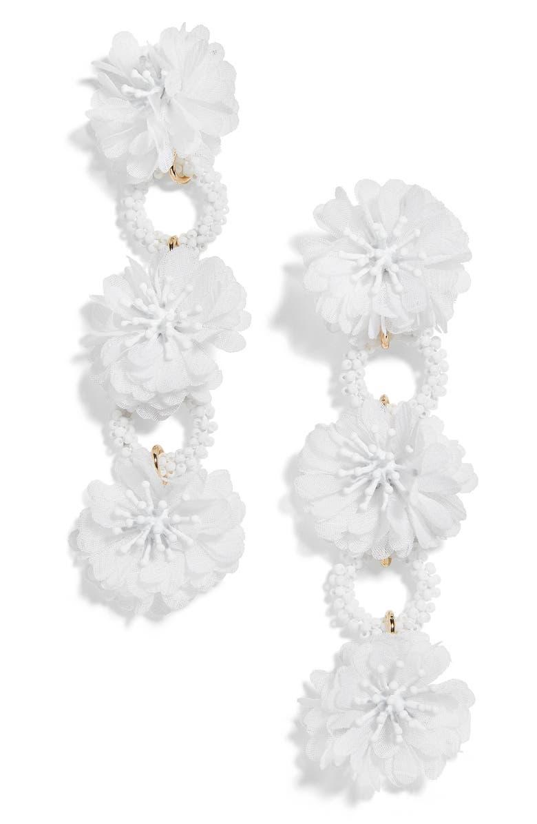 BAUBLEBAR Vernita Flower Drop Earrings, Main, color, 100