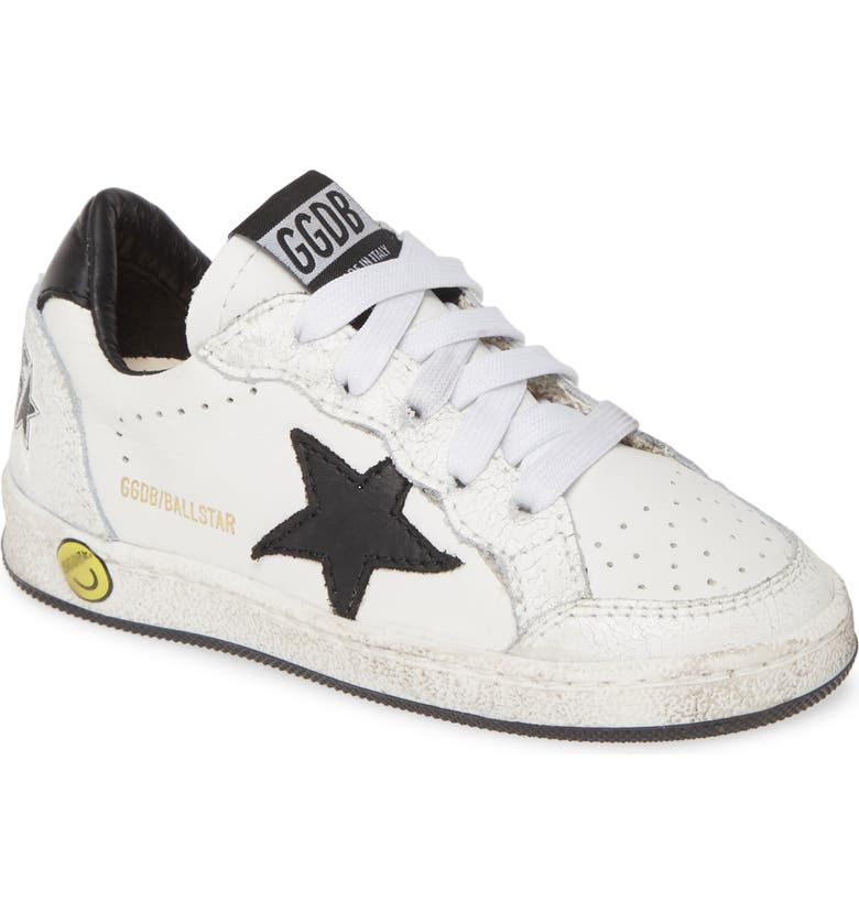 GOLDEN GOOSE Ball Star Sneaker, Main, color, WHITE LEATHER ORANGE TIP