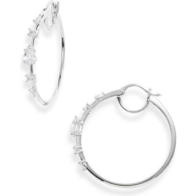 Nadri Eliza Cubic Zirconia Hoop Earrings