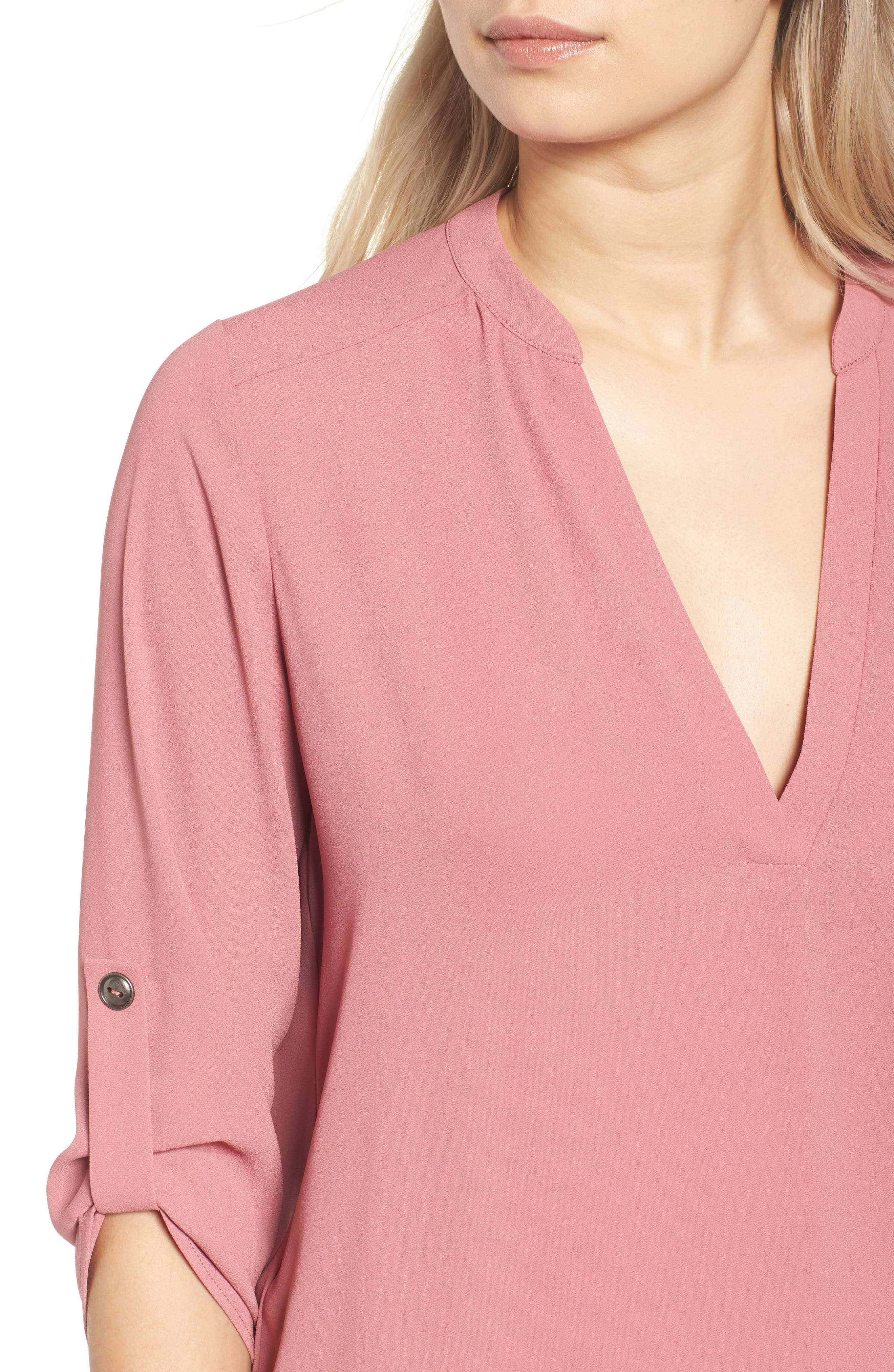 ,                             Perfect Roll Tab Sleeve Tunic,                             Alternate thumbnail 364, color,                             653