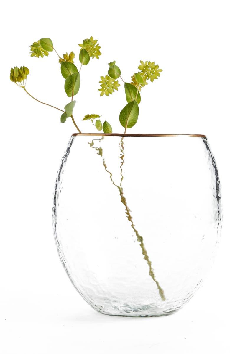 NORDSTROM at Home Gold Rim Vase, Main, color, 960