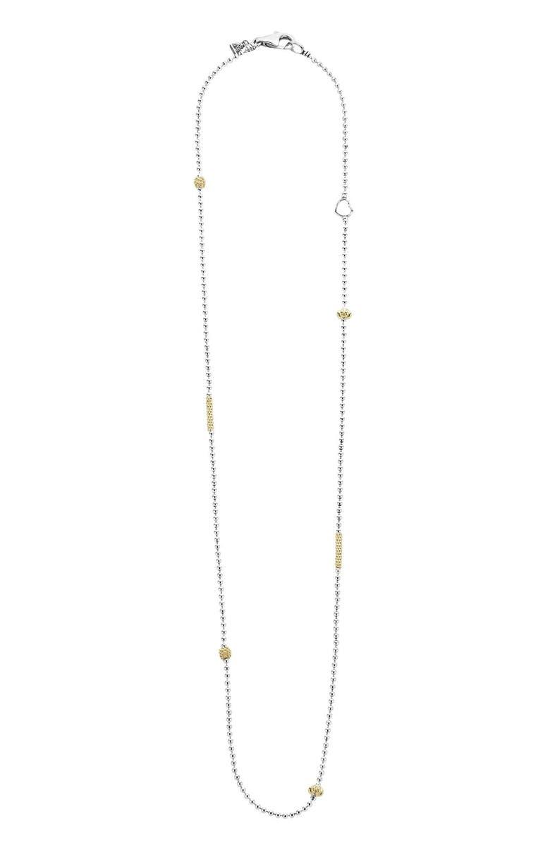 LAGOS 'Caviar Icon' Chain Necklace, Main, color, SILVER/ GOLD