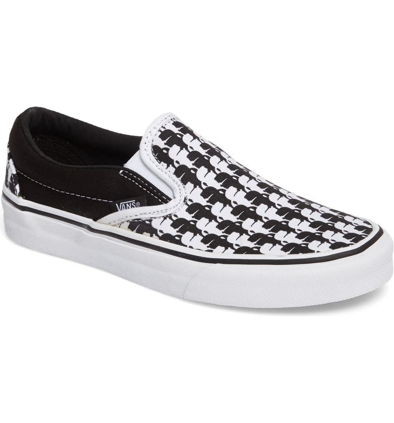 VANS x KARL LAGERFELD Houndstooth Slip-On Sneaker, Main, color, 001