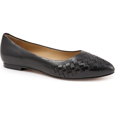 Trotters Estee Pointed Toe Flat, Black