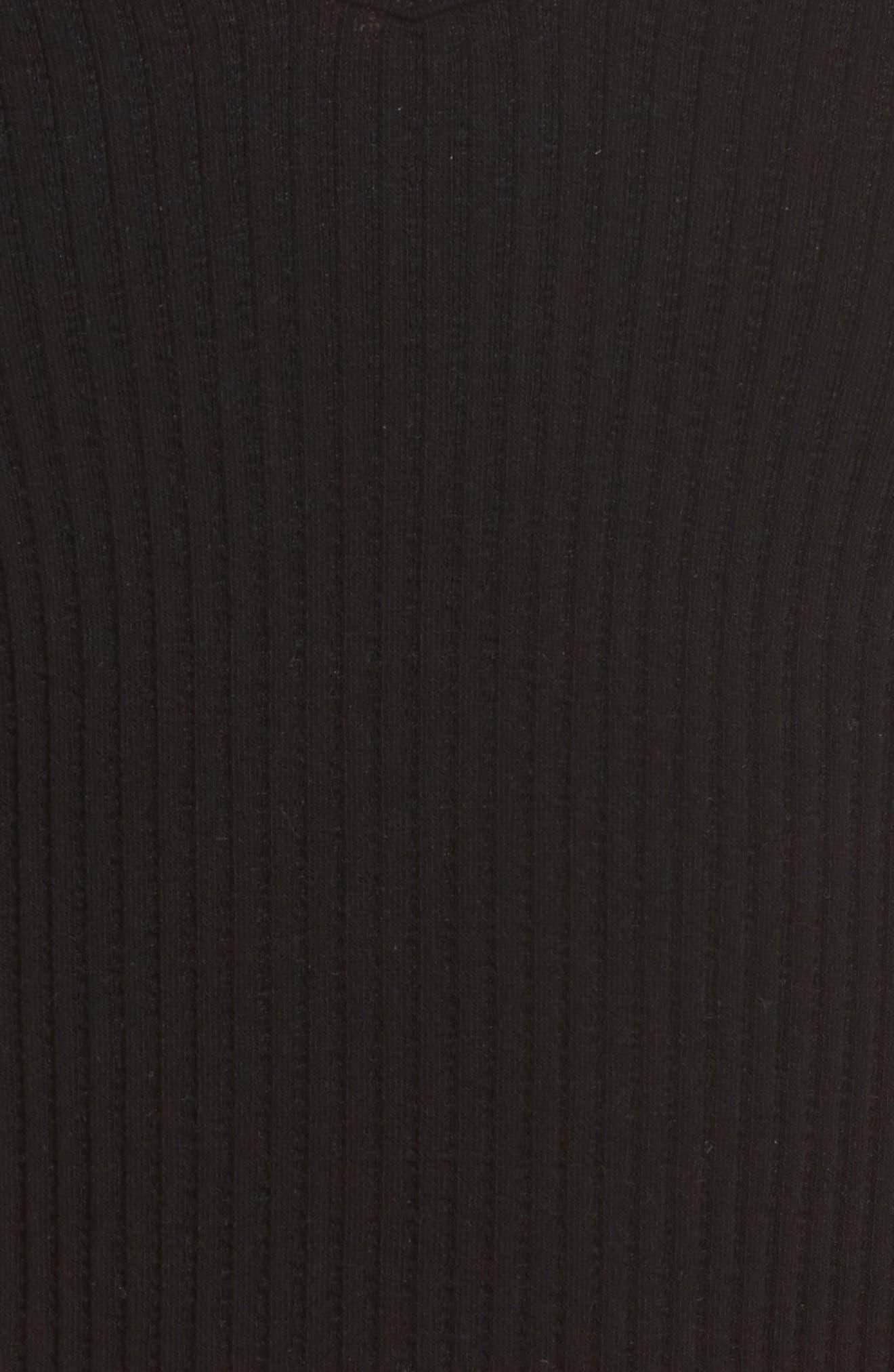 ,                             Intimately FP Solid Rib Brami Crop Top,                             Alternate thumbnail 5, color,                             BLACK