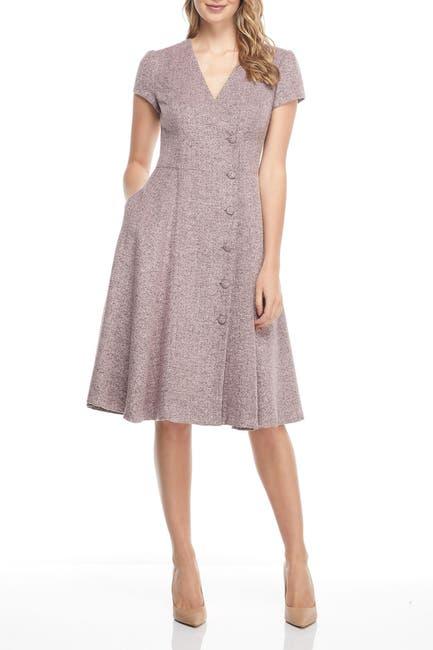 Image of Gal Meets Glam Dainty Tweed Knee Length Dress