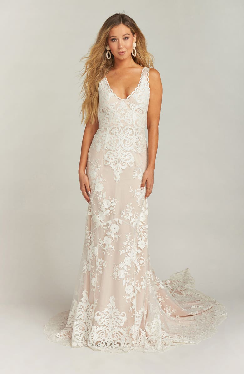 f1241ef1d3 Show Me Your Mumu Contessa V-Neck Lace Wedding Dress | Nordstrom