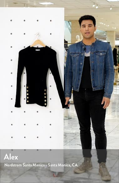 Side Button Sweater, sales video thumbnail
