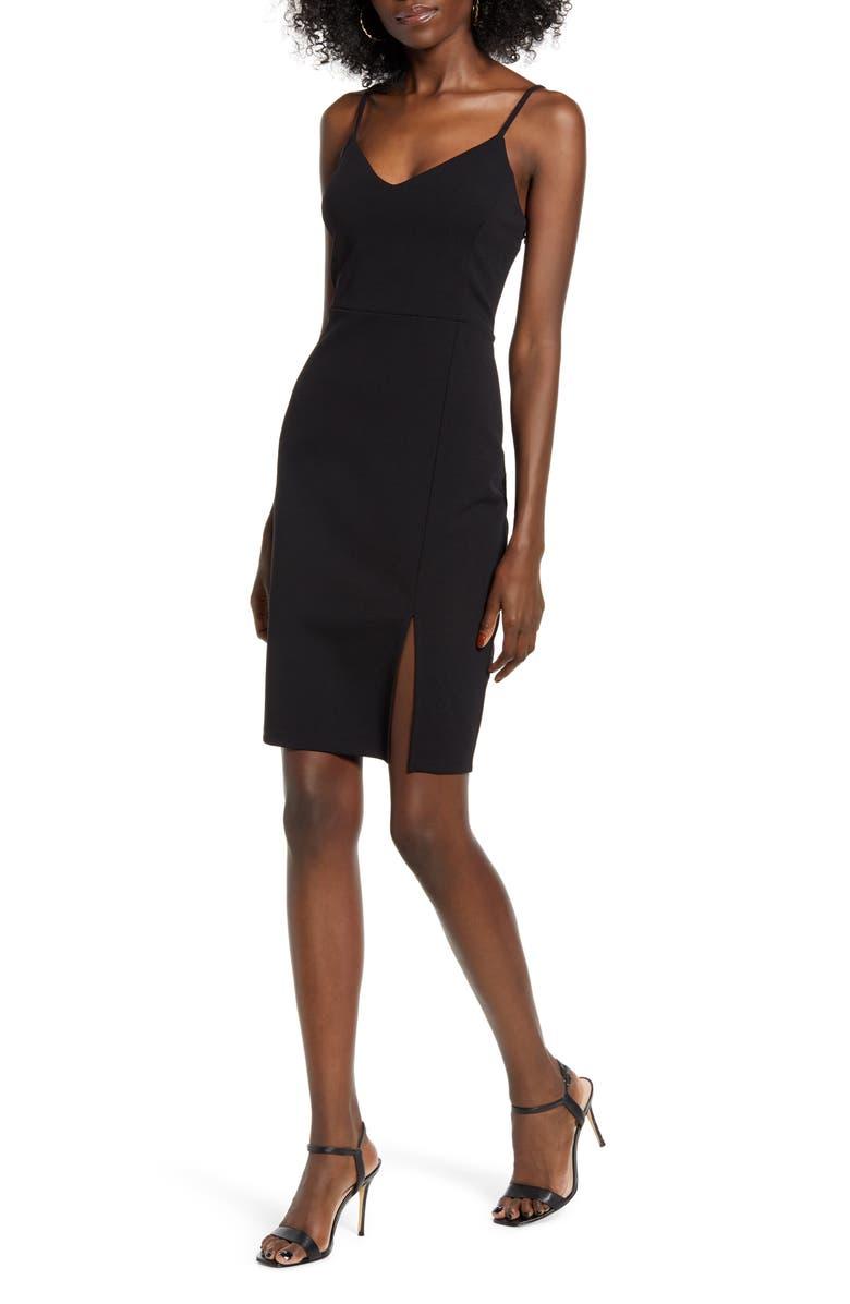 LEITH Body-Con Dress, Main, color, BLACK