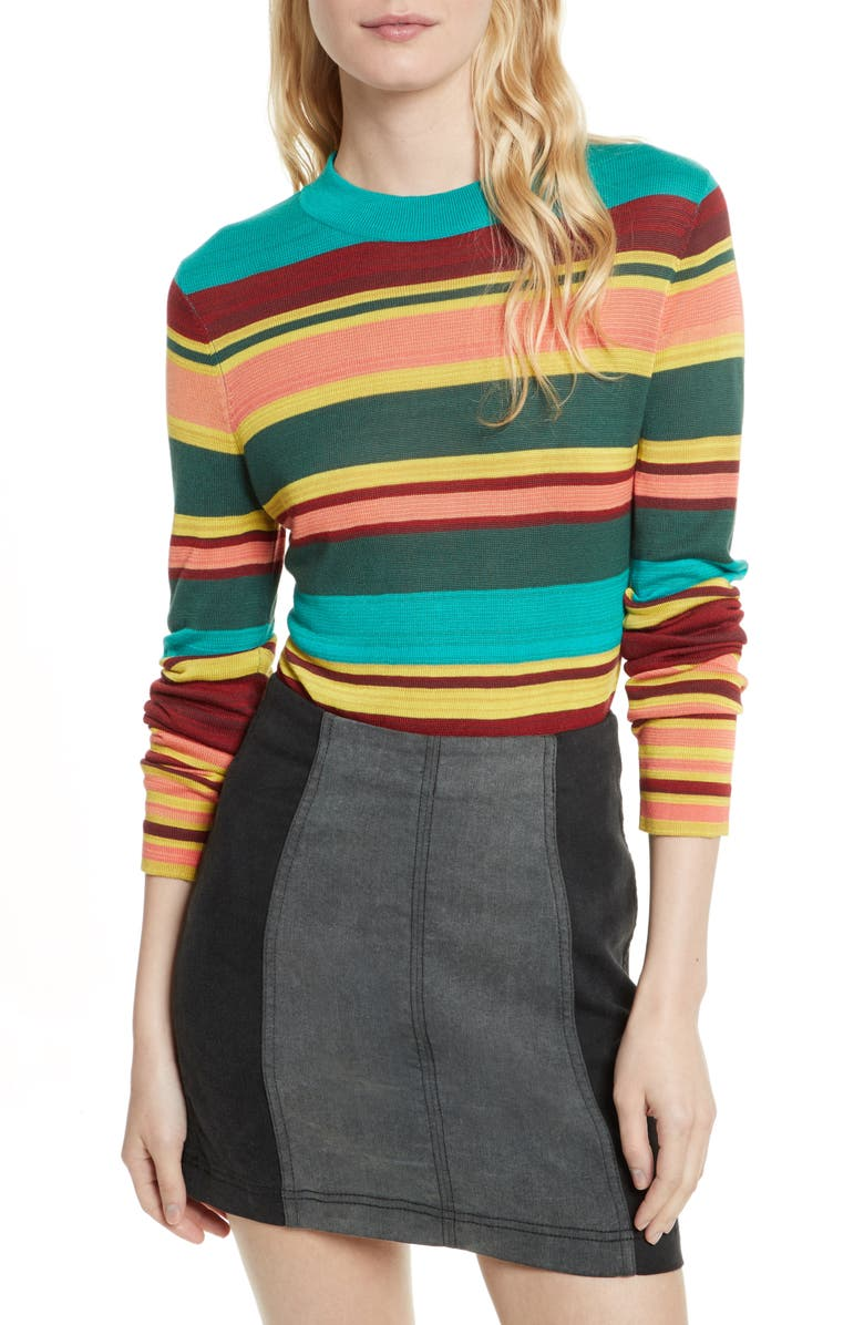 FREE PEOPLE Show Off Your Stripes Sweater, Main, color, 300