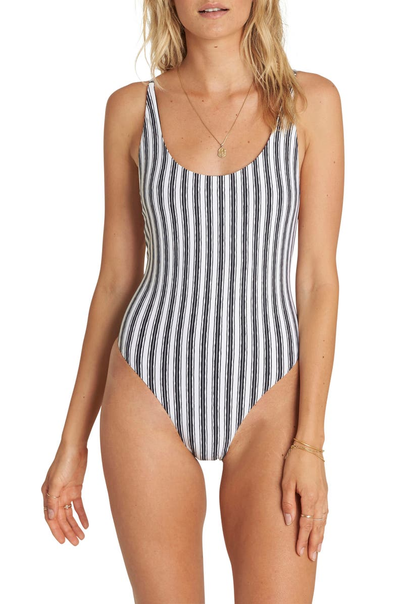 BILLABONG Get in Line One-Piece Swimsuit, Main, color, 001