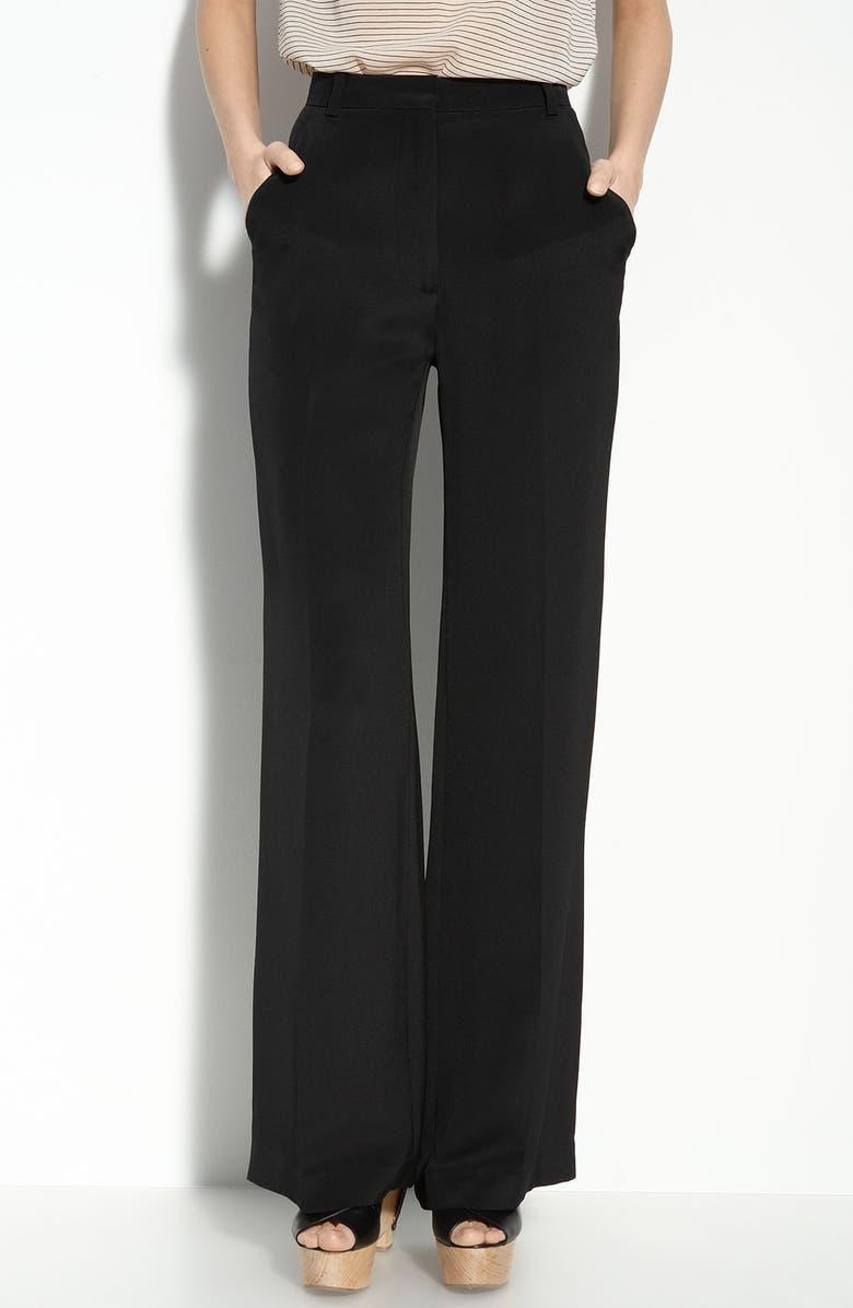3.1 PHILLIP LIM High Waist Silk Trousers, Main, color, 001
