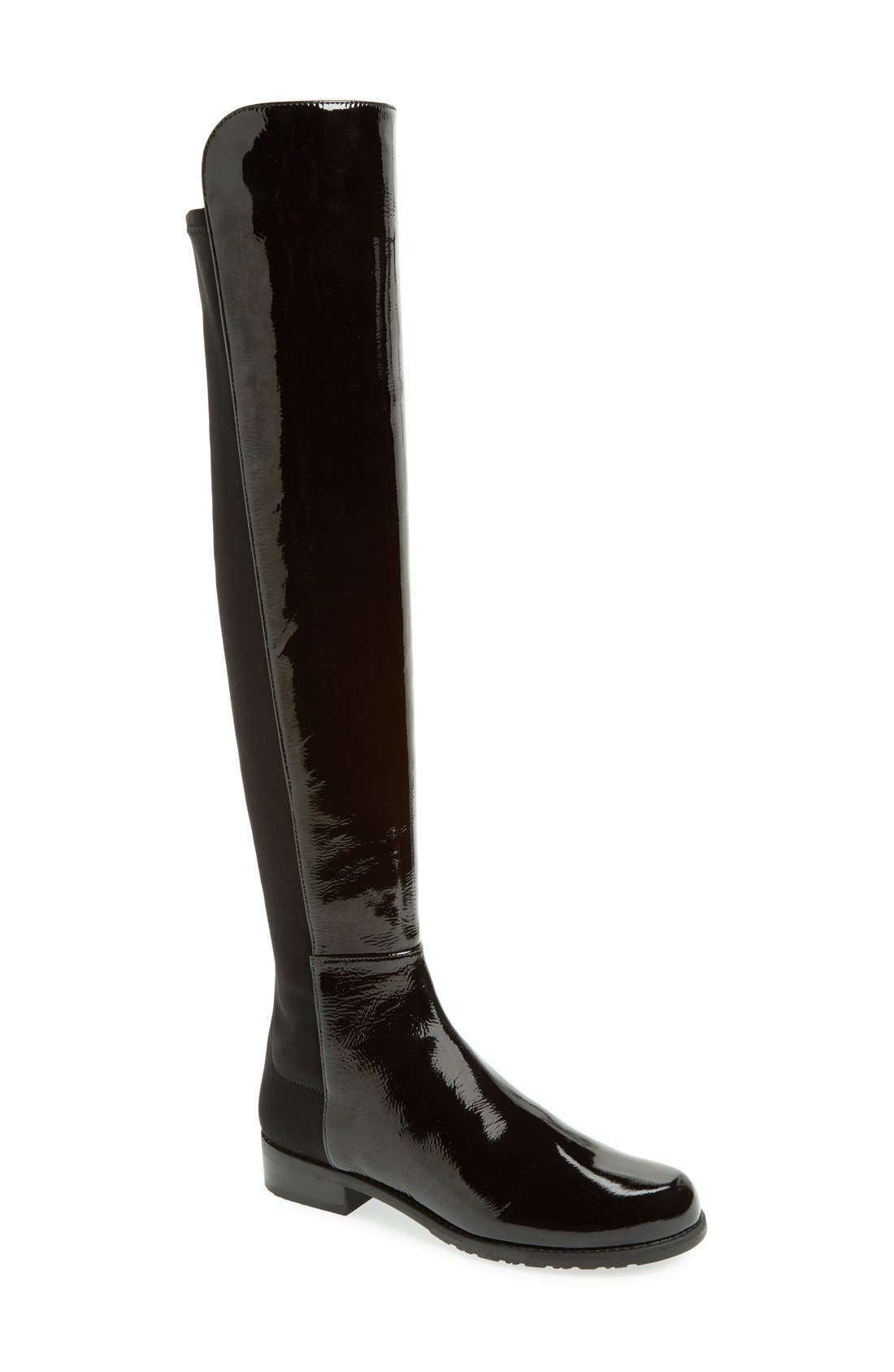 ,                             5050 Over the Knee Leather Boot,                             Main thumbnail 5, color,                             008