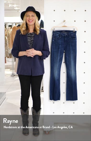 Fray Hem Flare Jeans, sales video thumbnail