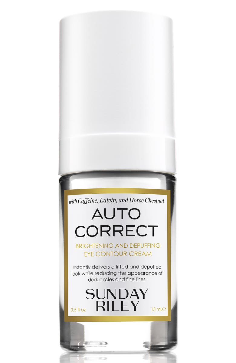 SUNDAY RILEY Autocorrect Brightening and Depuffing Eye Contour Cream, Main, color, NO COLOR