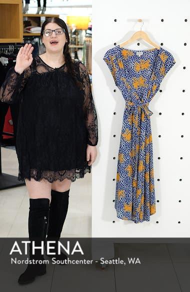 Robles Print Wrap Dress, sales video thumbnail