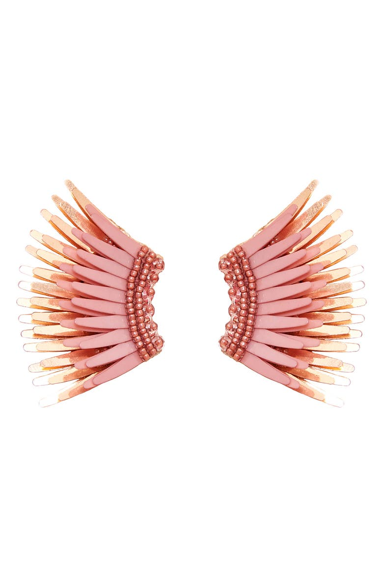 MIGNONNE GAVIGAN Mini Madeline Earrings, Main, color, BLUSH/ ROSEGOLD