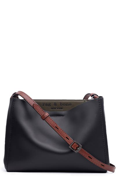 Rag & Bone Crossbody PASSENGER LEATHER CROSSBODY BAG - PURPLE