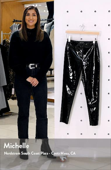 Piper Faux Leather Skinny Trousers, sales video thumbnail