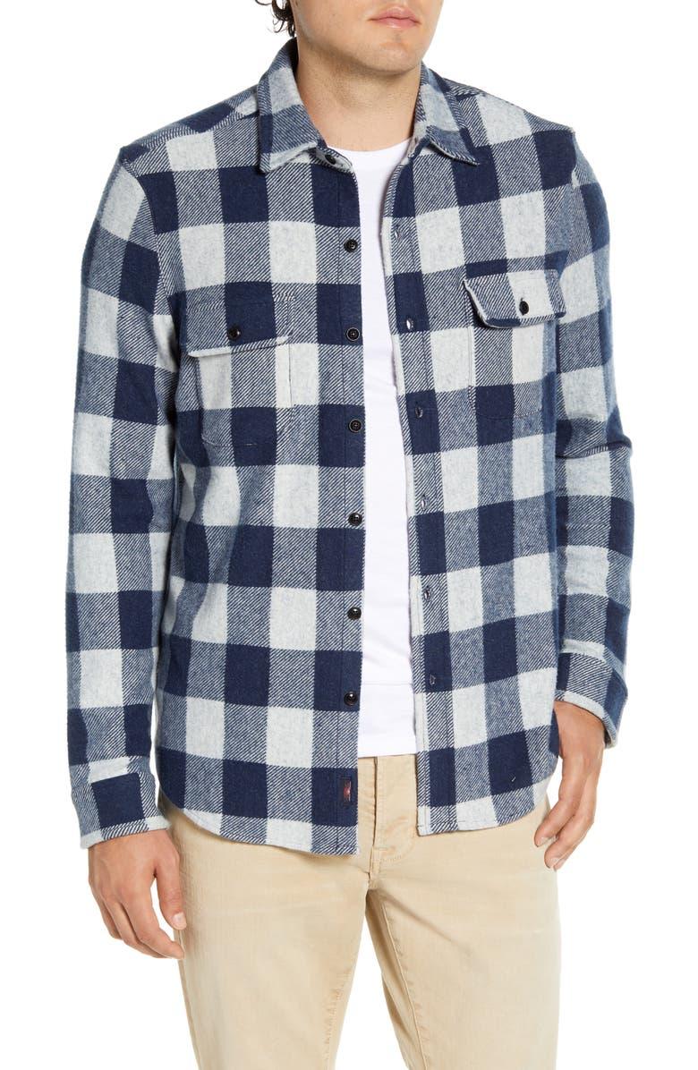 FAHERTY Legend Regular Fit Sweater Shirt, Main, color, ARTIC BUFFALO