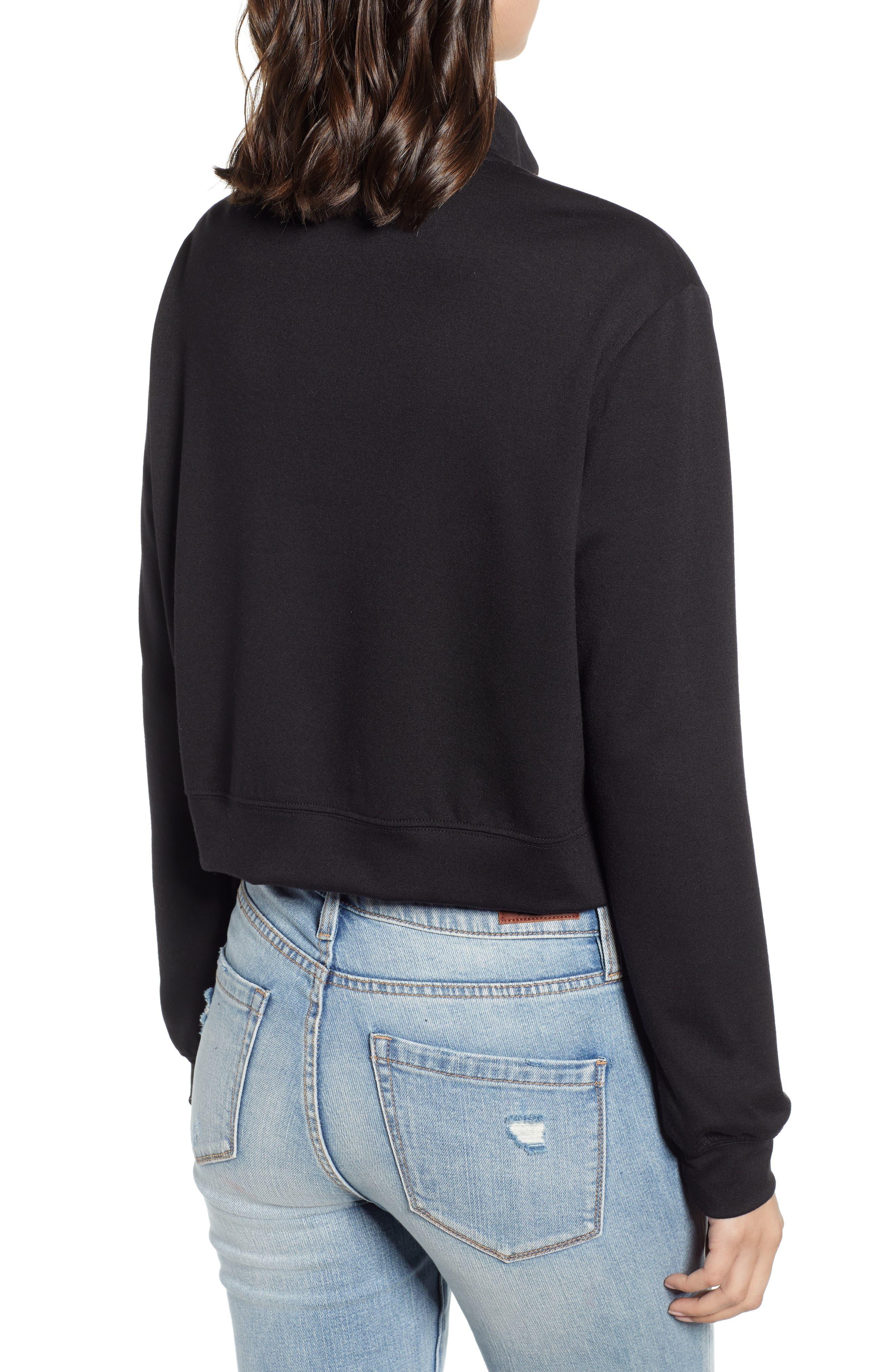 ,                             Crop Half Zip Pullover,                             Alternate thumbnail 2, color,                             001