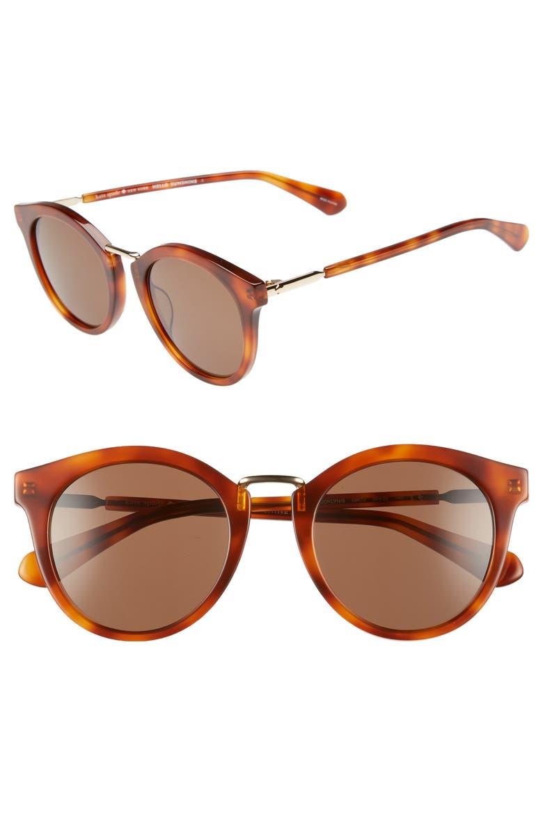 46a2eef78e44 kate spade new york joylyn 50mm round sunglasses | Nordstrom