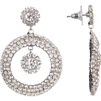 Nina Pave Crystal Hoop Earrings