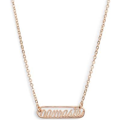 Ten79La Namaste Plate Necklace