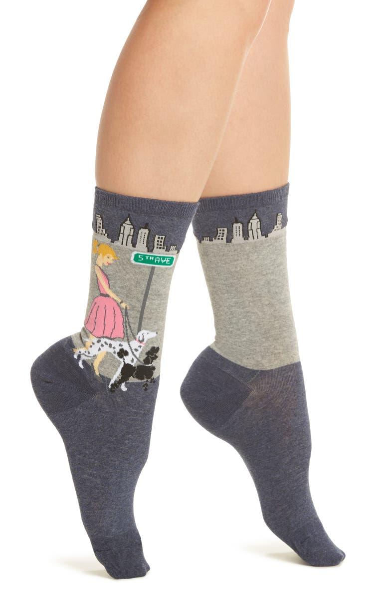HOT SOX Dog Walker Crew Socks, Main, color, 400