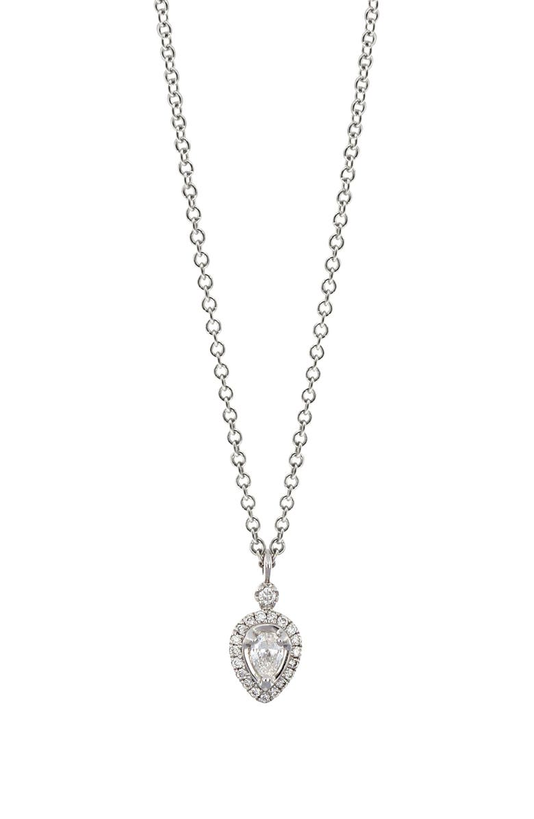 BONY LEVY Gatsby Pear Shape Diamond Necklace, Main, color, 711