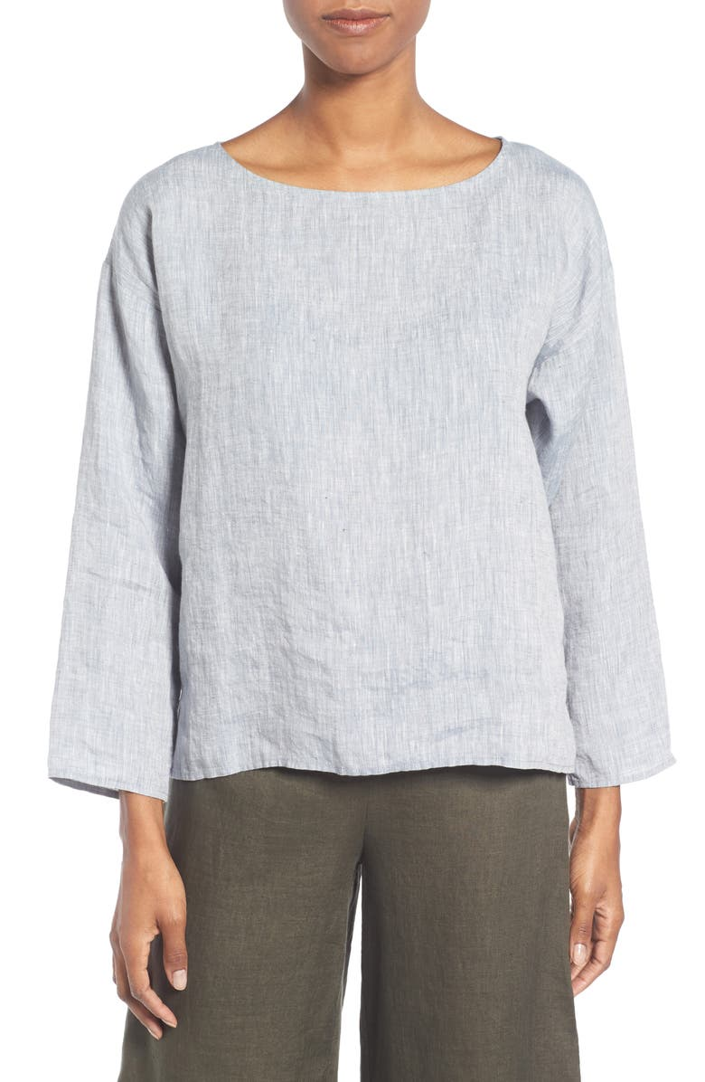 Organic Linen Top, Main, color, CHAMBRAY