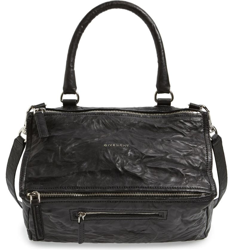 d7b22e47aa 'Medium Pepe Pandora' Leather Satchel, Main, color, BLACK '