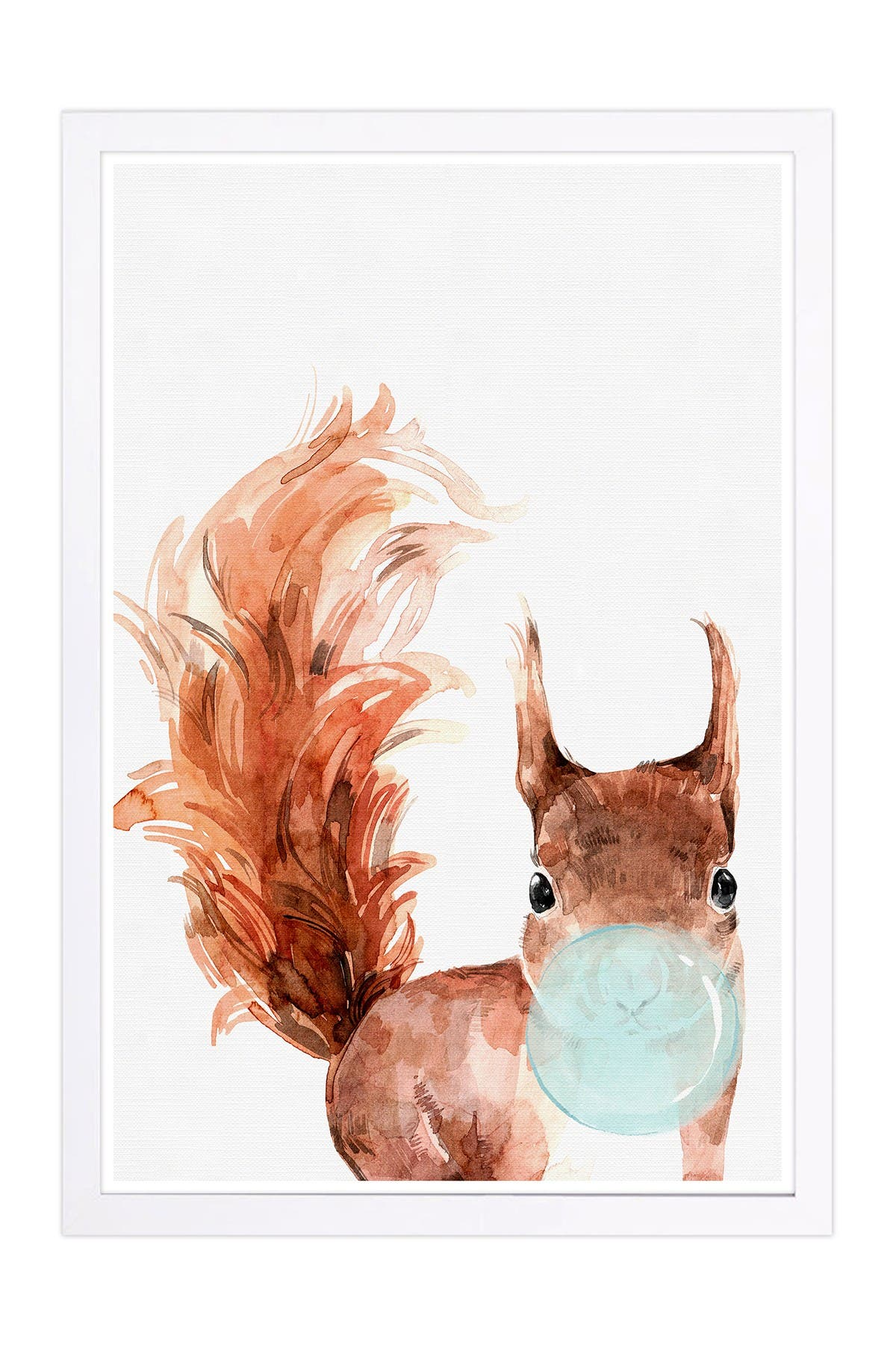 Wynwood Studio Squirrel Bubblegum Brown Animals Framed Wall Art at Nordstrom Rack