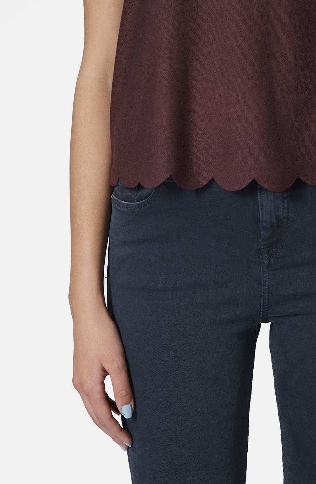,                             Scallop Frill Tee,                             Alternate thumbnail 43, color,                             930